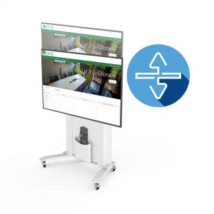 Electrically Height adjustable Screen Trolley