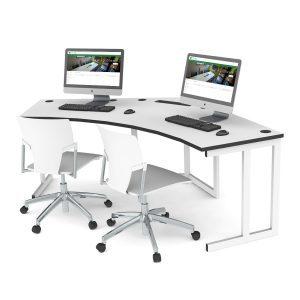 2 Seat Delta Cluster Desk