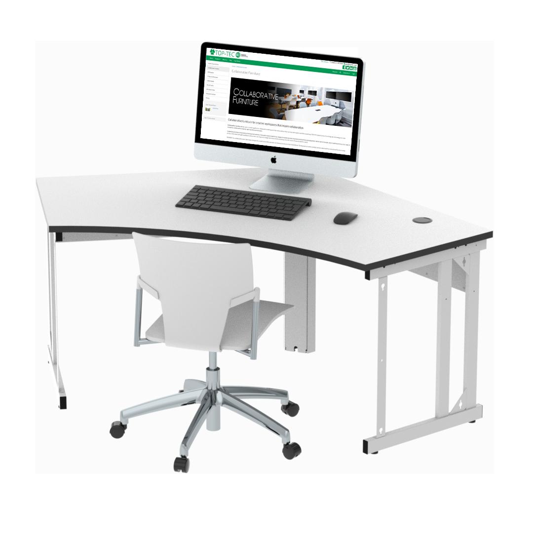 Single Seat Delta Cluster Desk