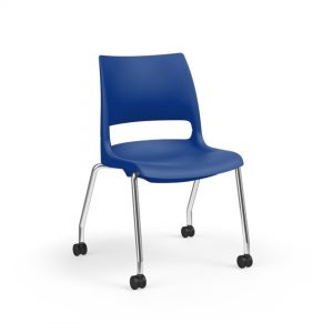 Four-Legged Chair with Castors