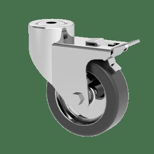 single braked castor