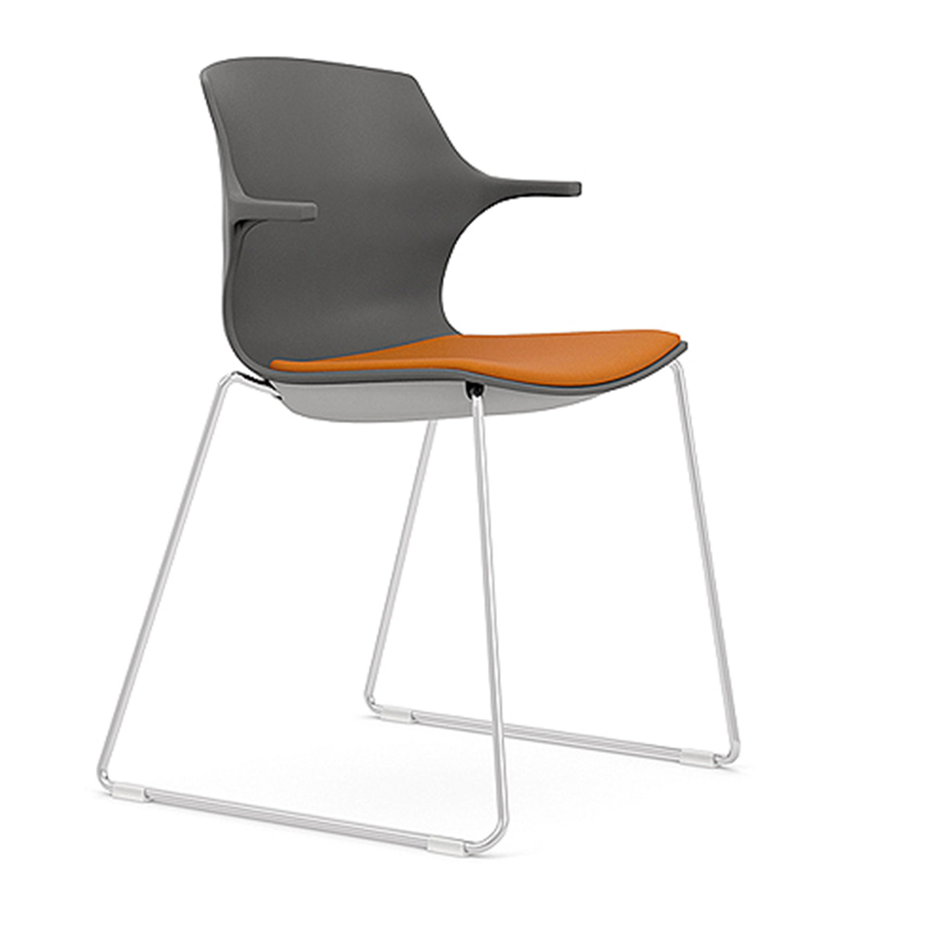 Sled Base Chair with Arms