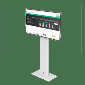 Floor mounted basic screen mast